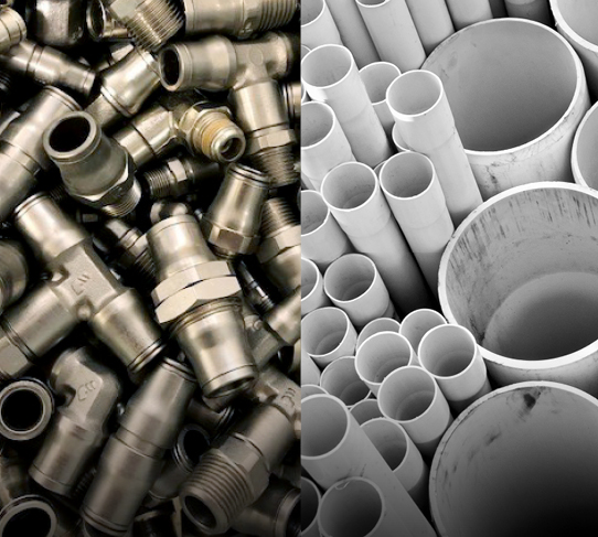 Fittings, hose, valves and pipe
