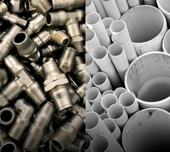 Fittings, valves, pipe & hose