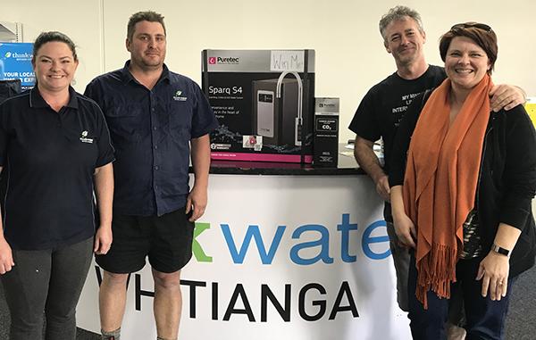 Puretec prize winners at Think Water Whitianga Grand Opening