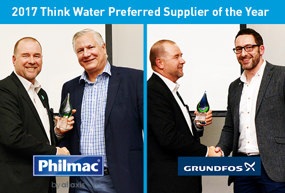Congratulations to the 2017 Think Water Preferred Suppliers of the Year