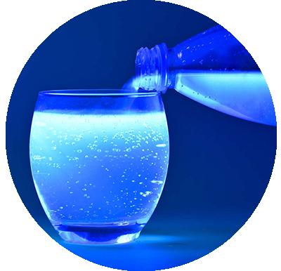 Household water under UV Light