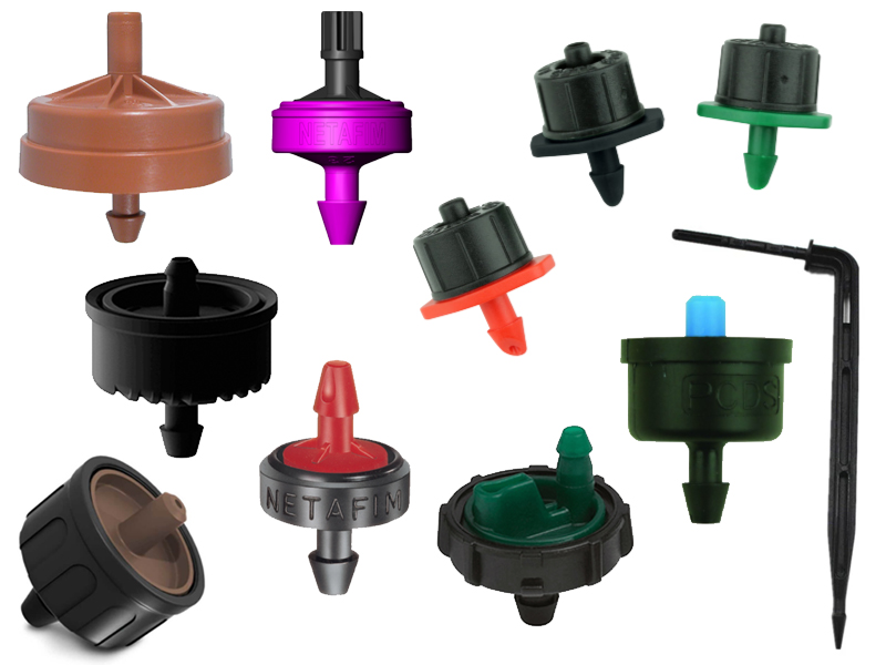Online drippers for drip irrigation